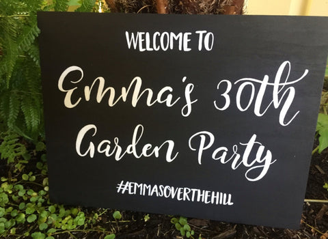 Welcome Sign - 30th Birthday Party