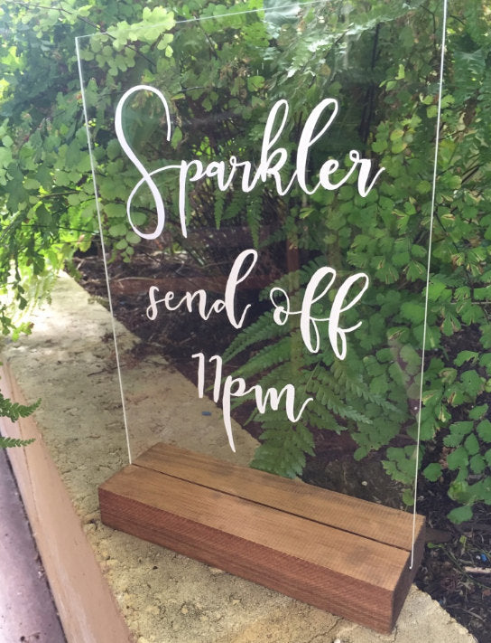 Sparkler Send off Acrylic Sign