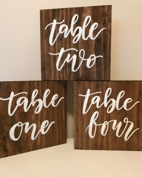 Wooden Table Numbers -