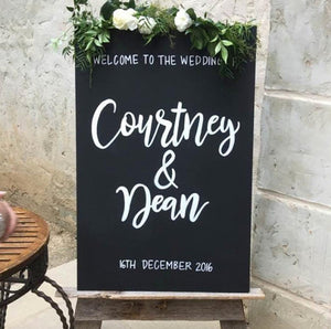 Modern Chalkboard Wedding Welcome Sign