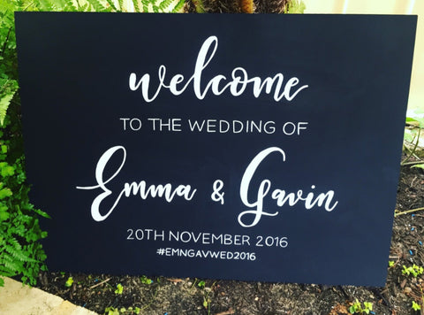 Wedding Welcome Sign - Chalkboard Landscape Sign
