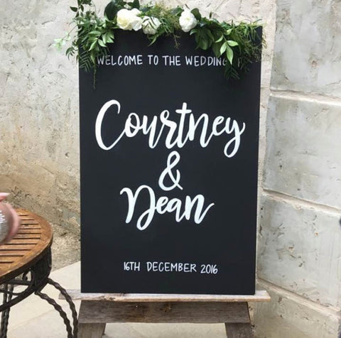 Wedding Welcome Sign - Chalkboard Portrait