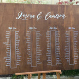 XL Walnut Stain Seating Chart