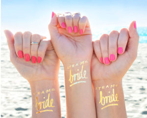 Team Bride Temporary Tattoo