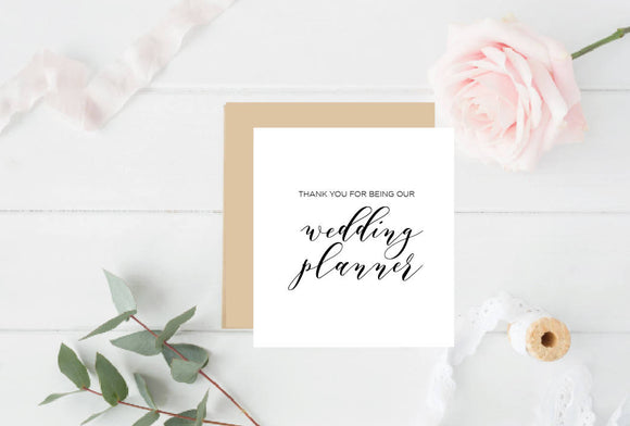 Thank You for being our Wedding Planner - Wedding Bridal Card