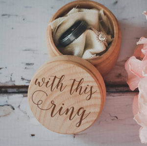 With This Ring wooden ring box