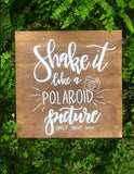Shake it like a Polaroid Picture Guestbook sign