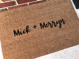 Couple Name  Door Mat