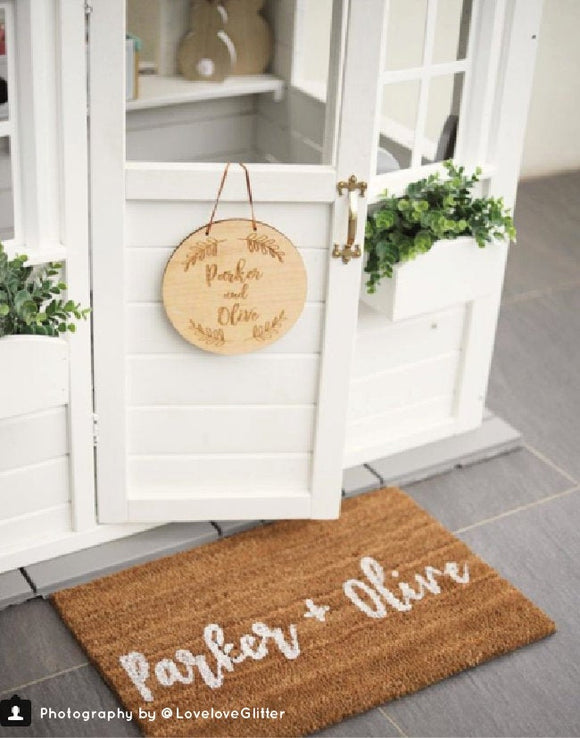 Cubby House Door Mat