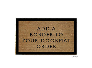 Doormat Add on - Border