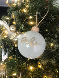 Personalised glass bauble christmas ornament