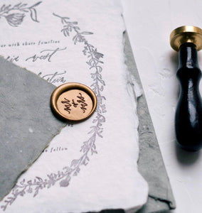 MR and MRS Calligraphy Wax Seal Stamp