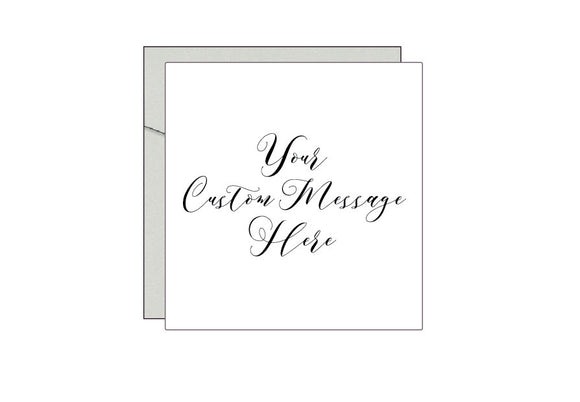 Personalised Bespoke Foil Greeting Card