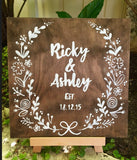 Keepsake Wooden Sign / Personalised wedding gift / wooden wedding sign / customised