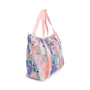 Pink Breeze Packable Tote Bag