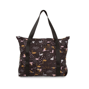 Black Swans Packable Tote Bag