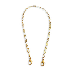 Gold Paperclip Chain Mask Lanyard