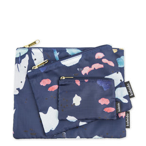 Navy Tidal Essential Pouches