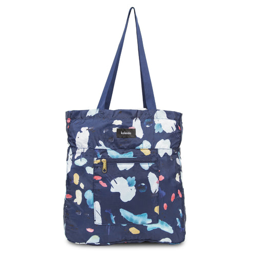 Navy Tidal Packable Everyday Shopper Tote