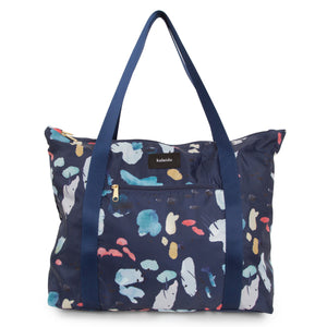 Navy Tidal Packable Tote Bag