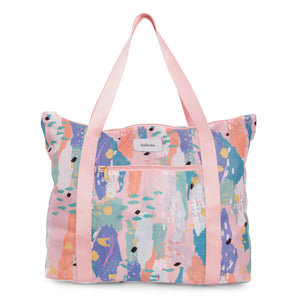 Pink Breeze Convertible Tote Bag