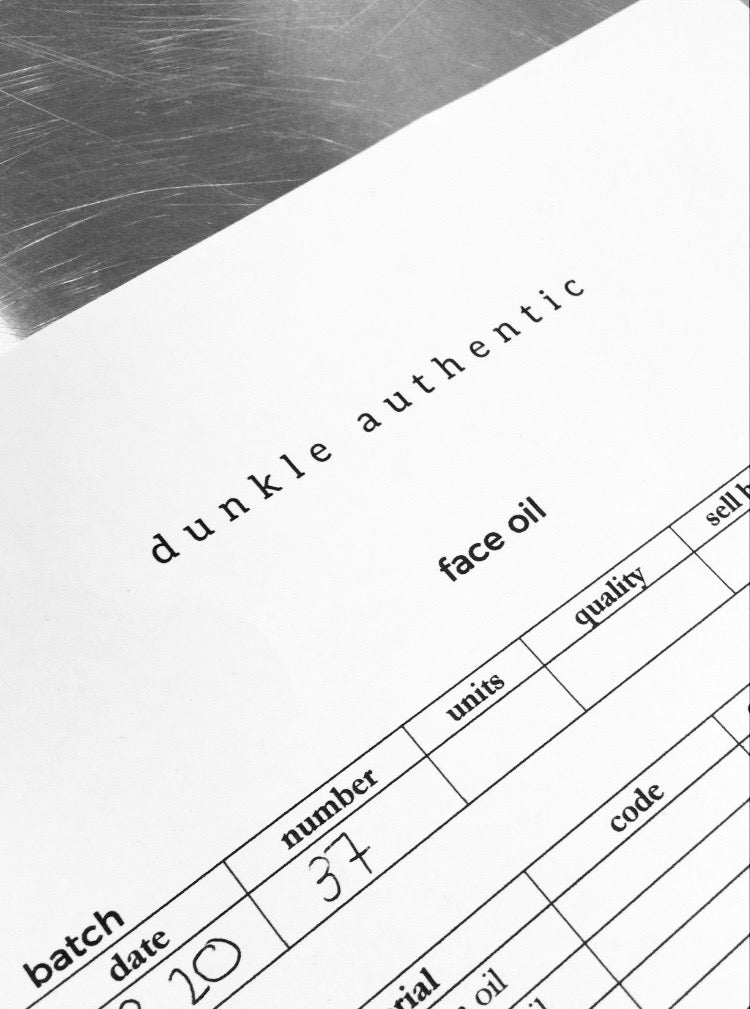 dunkle authentic manufacturing batch notes
