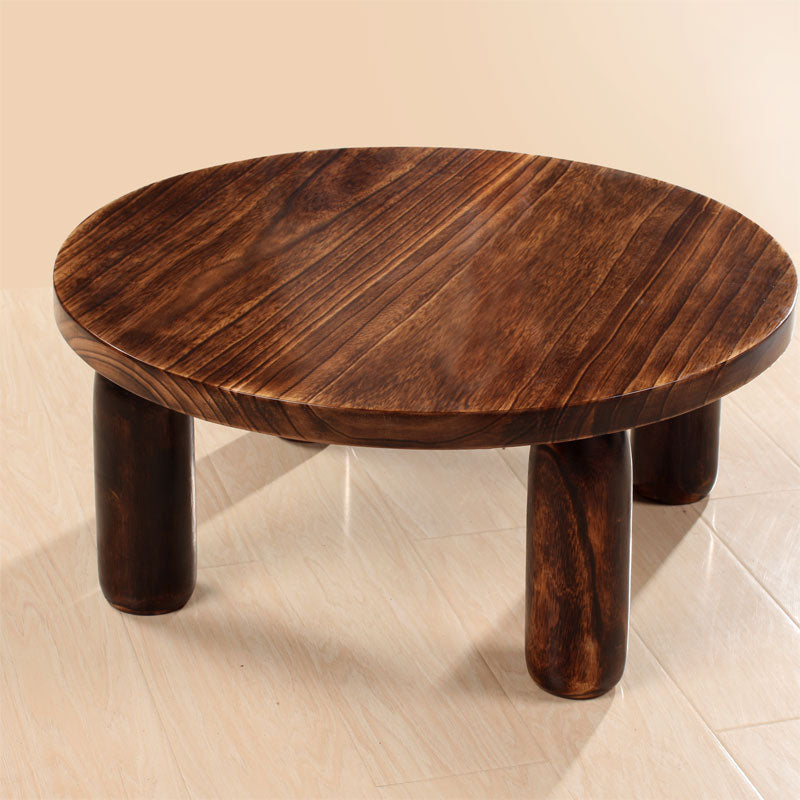 Japanese Antique Wooden Tea Table Wood Traditional Asian Furniture Living  Room Low Coffee Table Round Table 80cm Round - Japanese Antique Wooden Tea Table Wood Traditional Asian Furniture