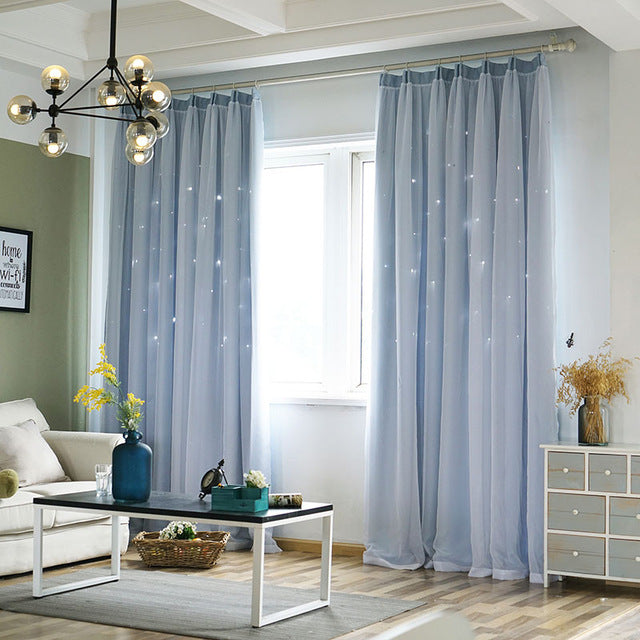 Solid Modern Blackout Curtains For Living Room Bedroom Kitchen Printed Window Drapes Blinds