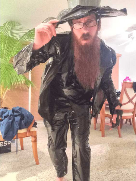 trash bag suit investigator