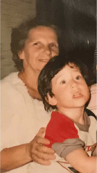 me and Nonna the grandmother that brought me by way of my mother to California