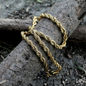 3 mm, 18K Gold Rope Chain