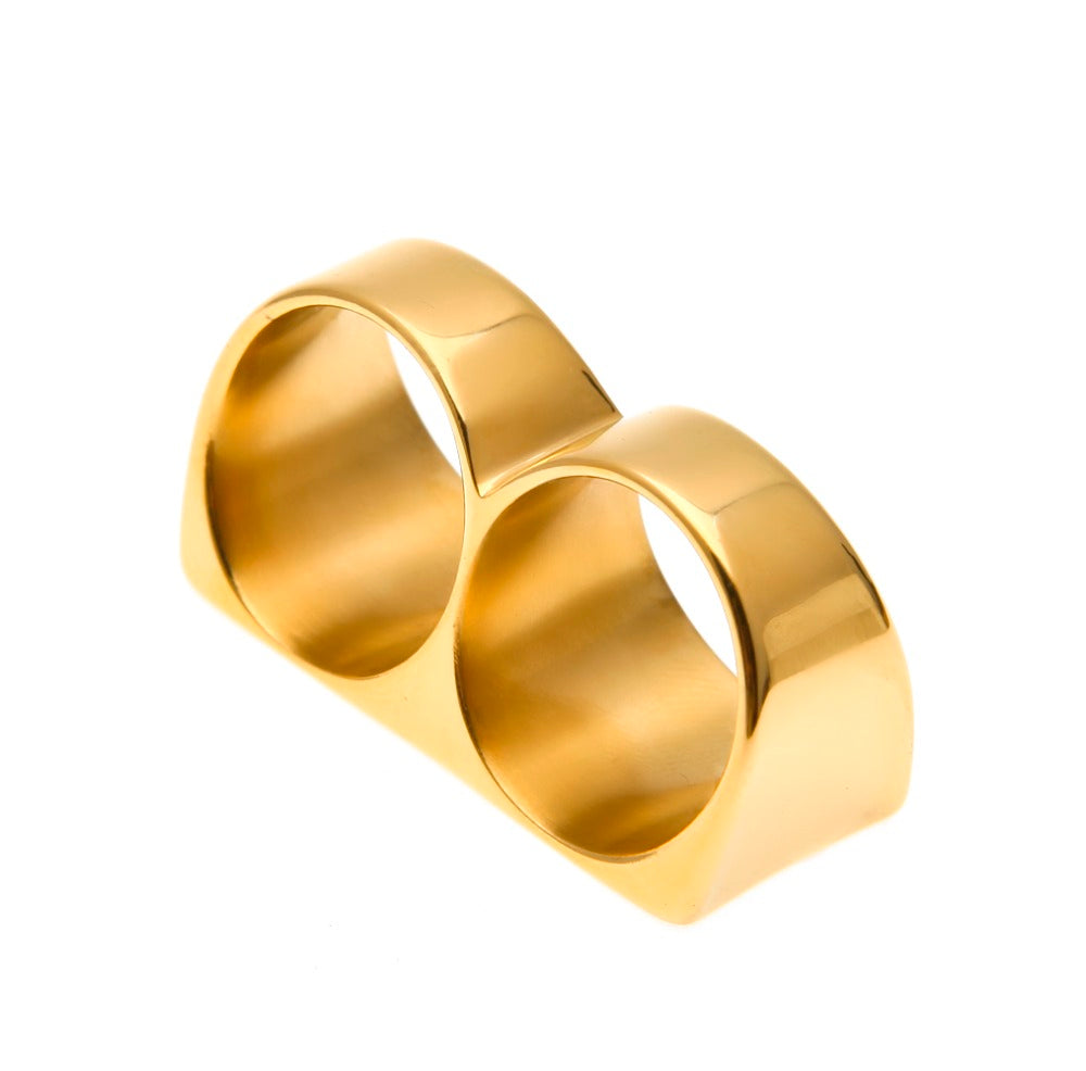 Two Finger Gold Rings - goldiberg