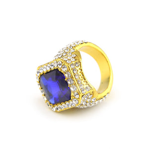 Gold Sapphire Royal Ring