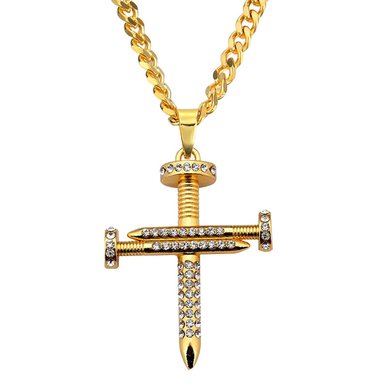 Nail Cross Necklace - goldiberg