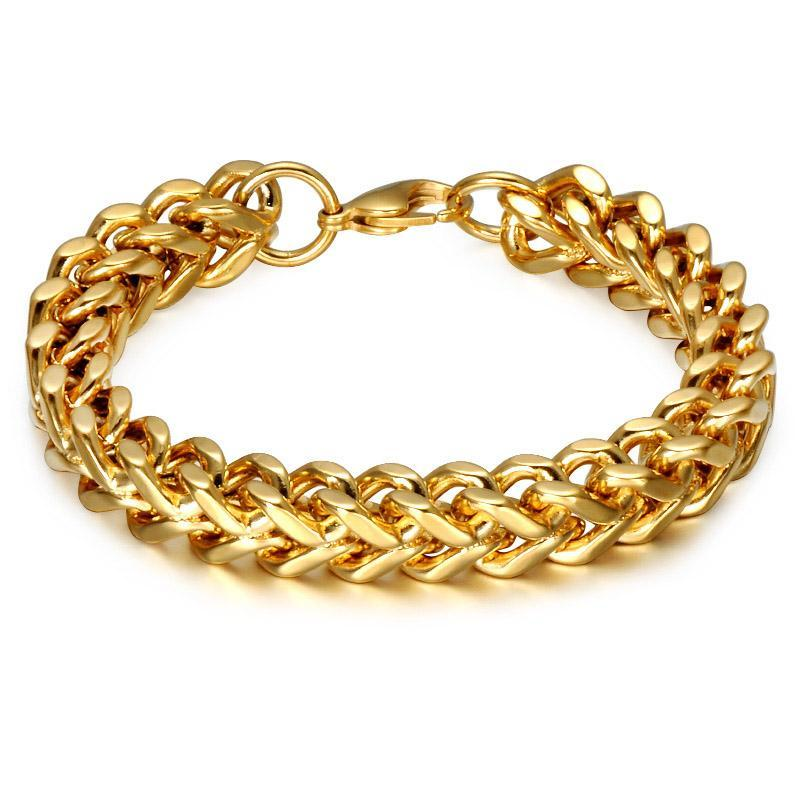 mm franco bracelet link real gold yellow cuban mens inches