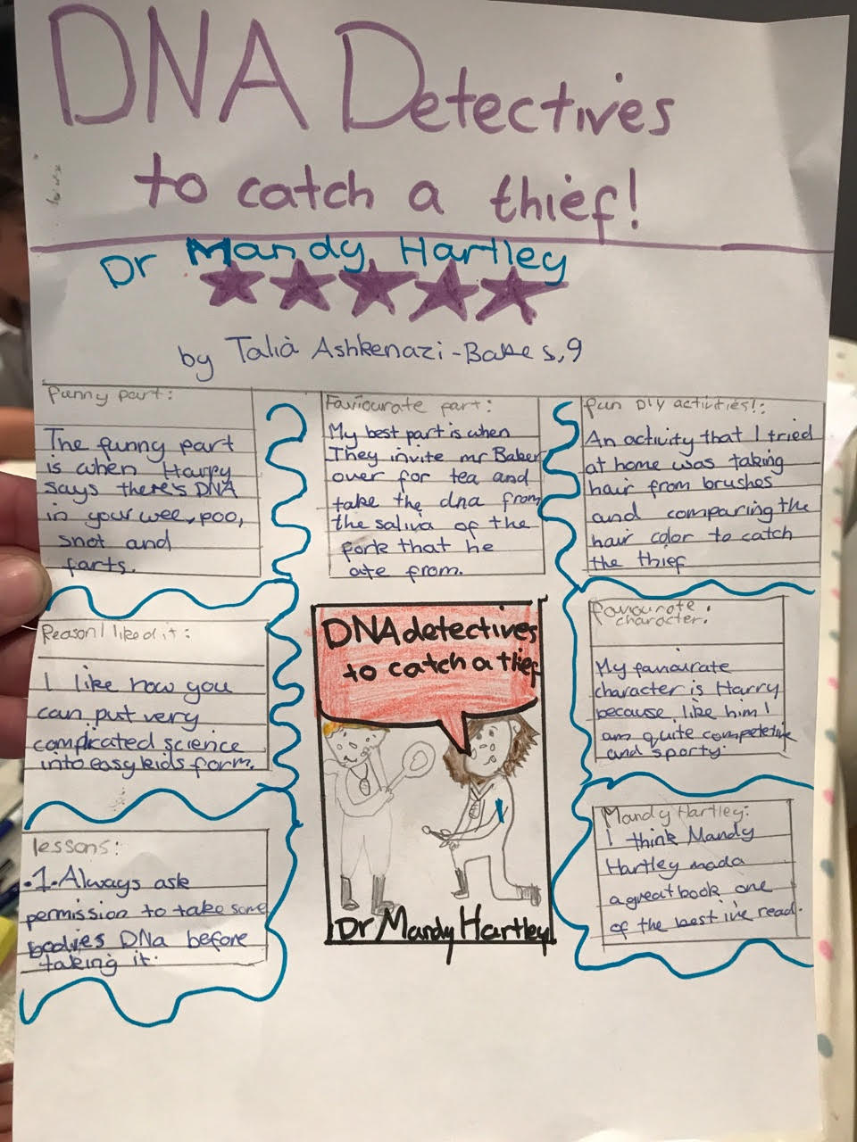 The DNA Detectives Dr Amanda Hartley children's book reviews