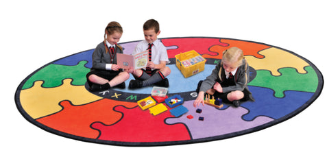 Learning carpet with colourful puzzles and alphabet