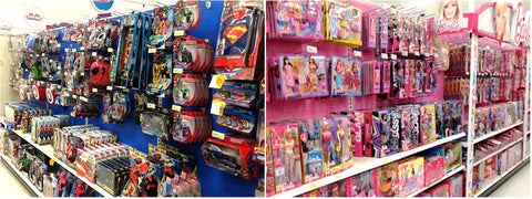 Segregated toy aisle