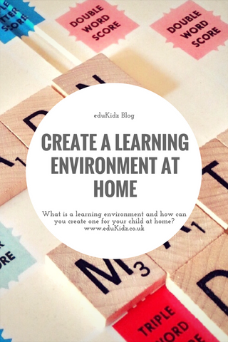 Create a learning environment at home - pinnable pinterest