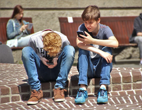 Kids on phones