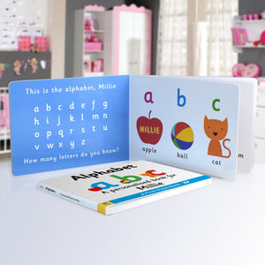 Personalised First Steps Alphabet Board Book for Toddlers - edu Kidz