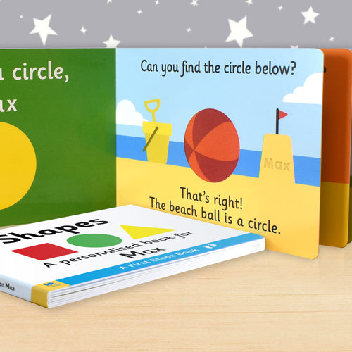 Personalised First Steps Shapes Board Book for Toddlers - edu Kidz