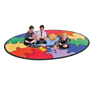 ABC Rainbow Puzzle Learning Rug - edu Kidz