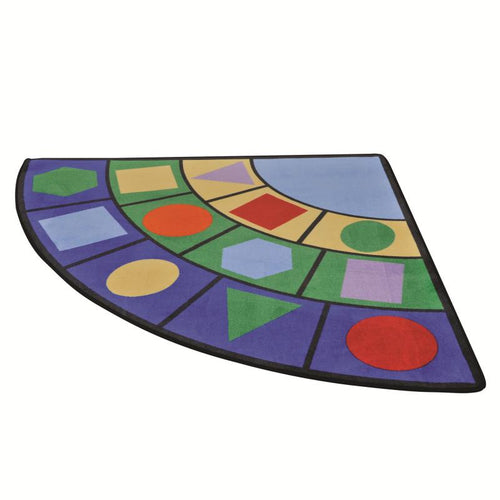 Colours and Shapes Wedge Learning Rug - edu Kidz