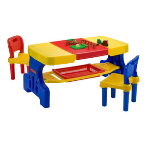 Giant Picnic Table with Lego Top and 2 Chairs - edu Kidz