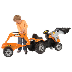 Smoby Builder Max Ride On Tractor With Trailer - edu Kidz