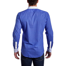 Men - Apparel - Shirts - Dress Shirts Signature Blue -Slim Fit dress shirt - Blue/White (Red Embroidered Logo) fashion clothing accessories shoes jewelry