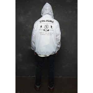 Men - Apparel - Outerwear - Jackets Essential Windbreaker (White) Fashion Madness