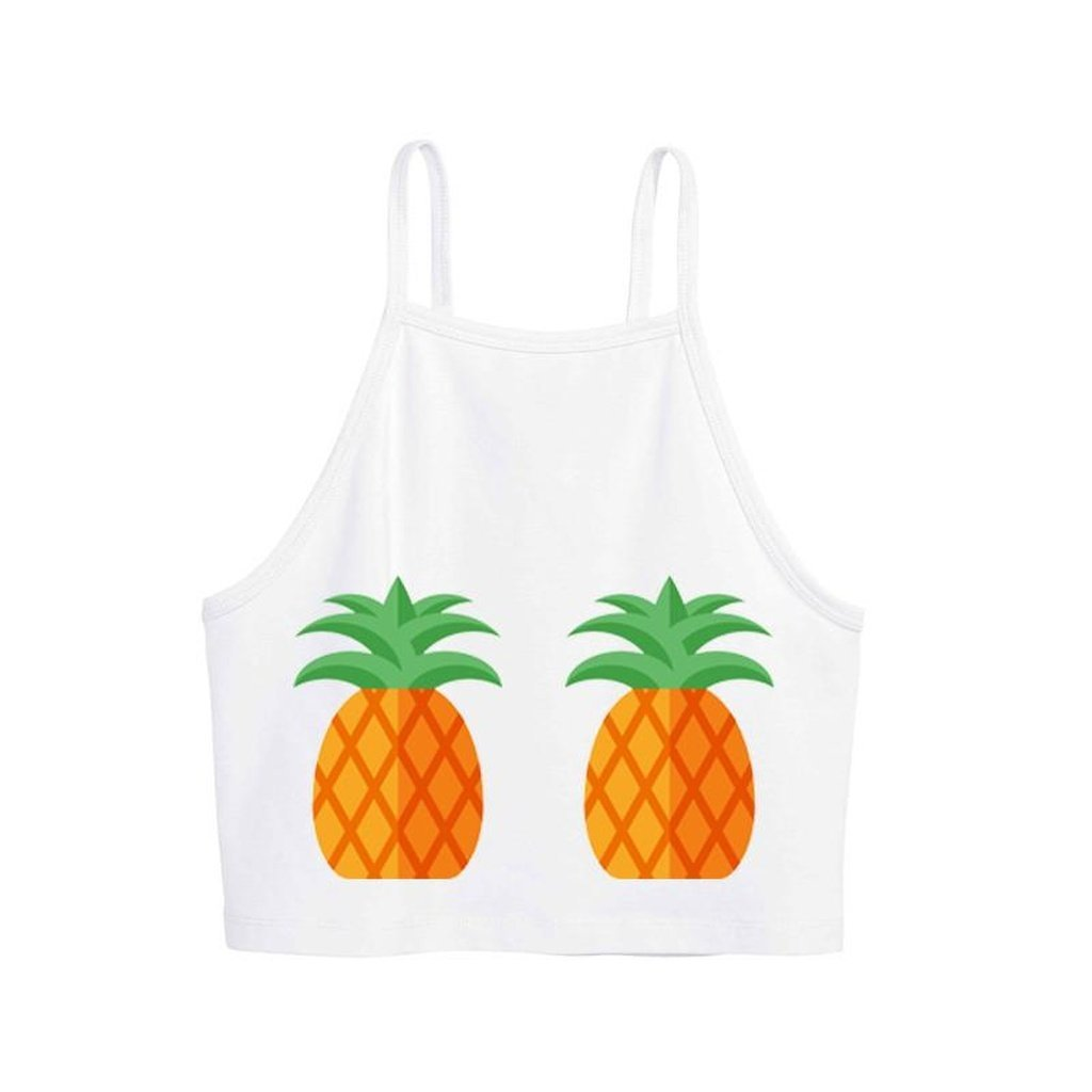 "Women - Apparel - Shirts - T-Shirts T-Shirt Corta ""Ananas"" fashion clothing accessories shoes jewelry"