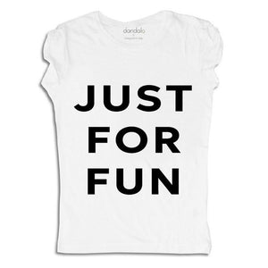 "Women - Apparel - Shirts - T-Shirts T-Shirt ""Just For Fun"" fashion clothing accessories shoes jewelry"